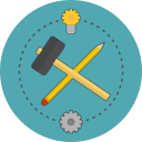 build, idea, pencil, service icon
