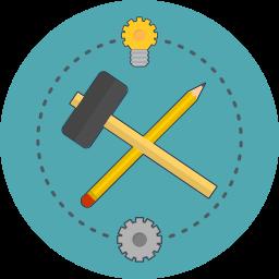 build, idea, pencil, service icon