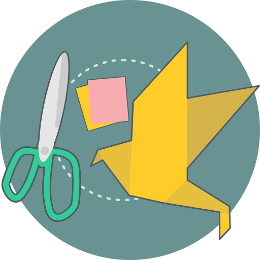 craft, creative, cut, origami icon