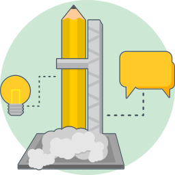chat, creative research, energy, idea icon
