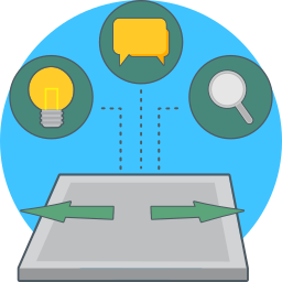 expand, idea, search, social icon
