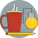 coffee, creative, good idea icon