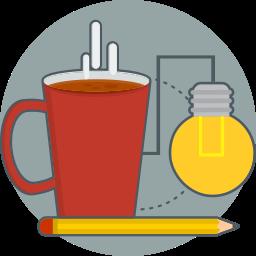 coffee, creative, good idea icon