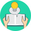 book, energy, idea, knowledge icon