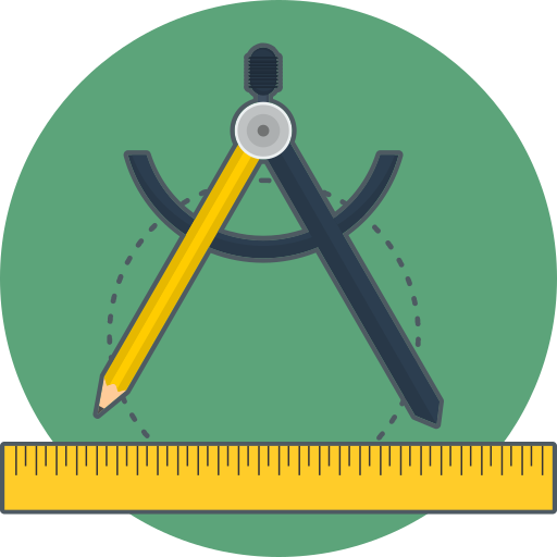 precision, ruler, sketch icon