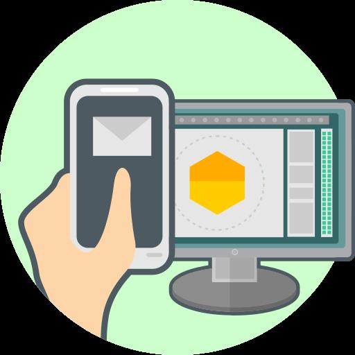 computer, phone, responsive design icon