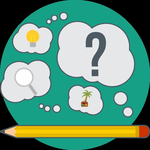creative, creative idea, idea, pencil, search, think icon