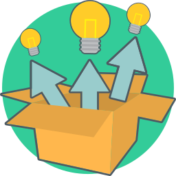 box, creative, energy, idea, think out of the box icon