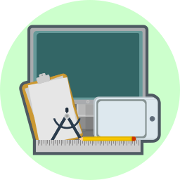 computer, creative, drawing pad, pen, ruler, technology, tools icon