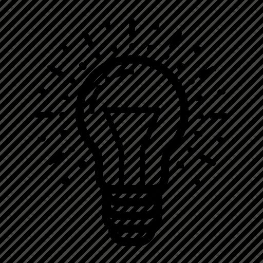 bulb, creative process, creativity, idea, innovation, light, thought icon