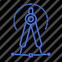 compass, education, geometry, stationary