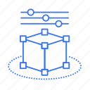box, cube, graph, setting icon