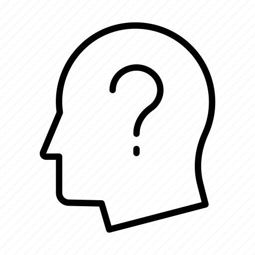 faq, head, mind, question, unknown icon