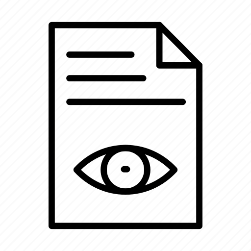 document, file, paper, sheet, view icon