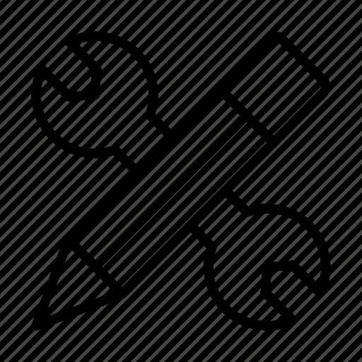 creative, edit, pencil, repair, setting icon