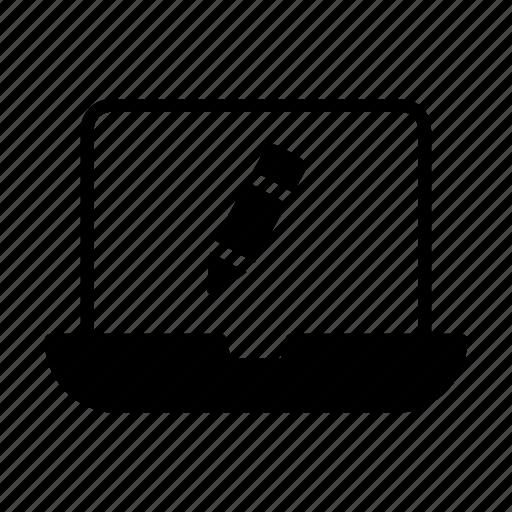 create, edit, laptop, notebook, write icon
