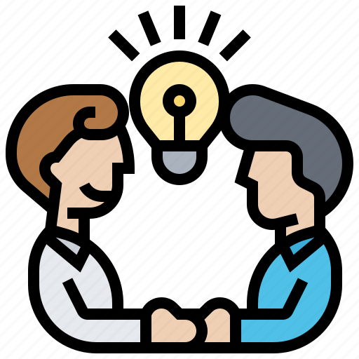 brainstorming, discussion, ideas, solution, teamwork icon