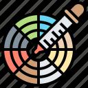 art, color, dropper, palette, wheel icon