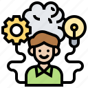 creativity, ideas, innovation, intelligence, motivation icon
