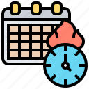 appointment, calendar, date, deadline, schedule icon
