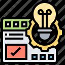 design, elaboration, manage, monitor, template icon