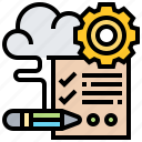 checklist, evaluation, management, planning, preparation icon