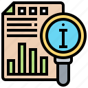 analysis, information, relevant, search, source icon