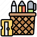 drawing, office, pen, stationary, supplies icon
