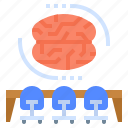 brain, brainstorming, conference, idea, meeting icon