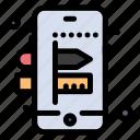 creative, mobile, process icon