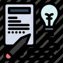 book, creative, idea, process icon