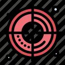 creative, process, target icon