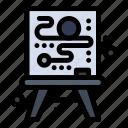 canvas, creative, process icon