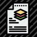 creative, file, layers, process icon