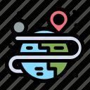 creative, globe, map, process icon