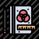 creative, process, stationery icon