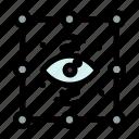 creative, eye, process, view icon
