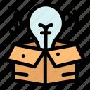 big, creative, idea, process icon