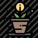 creative, growth, process icon