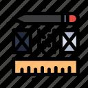 creative, layout, process icon