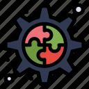 creative, gear, process icon
