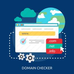 check, domain, process, screen, success, website, world icon