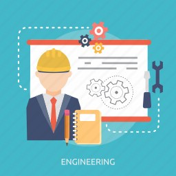 book, document, engineering, man, process, setting, working icon