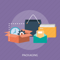 bag, box, document, latter, packaging, paper, time icon