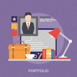 bag, man, monitor, portfolio, profile, rank, star icon