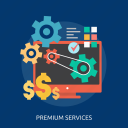 idea, money, monitor, premium, process, services, success icon