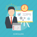 calendar, deadline, idea, man, scheduling, success, time icon