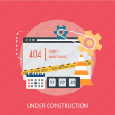 calendar, construction, improvement, maintenance, police, under, website icon