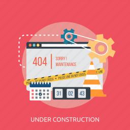 calendar, construction, improvement, maintenance, police, under, website icon