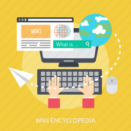computer, concept, encyclopedia, search, wiki, work, workplace icon